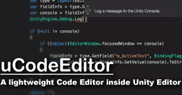 uCodeEditor Unity Internal Script Editor 1.2.4 Crack Download